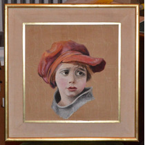 Cuadro - Niño Con Sombrero Rojo