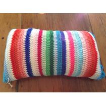 Almohadon Tejido A Mano A Crochet 40 * 25 Cm Rayas