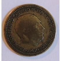 Moneda De España 1 Peseta - 1947 - En Mendoza