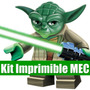 Kit Imprimible Star Wars Lego Tarjeta Invitacion Candy 2015