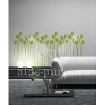 Vinilo Decorativo Floral 60 X 110 Cm Tulipanes Alaspúrpura