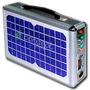 Kit Emergencia Solar C/ Mp3 Radio Usb- Sd- Lámpara Cargador