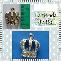 Dije Corona Concava/ Metal/ Princesas, 15 Años/ 5 Unidades