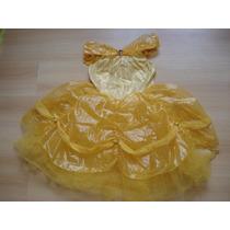 Vestido Disfraz Nena Princesa Bella Disney Importado 8-10