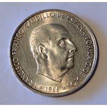 Moneda De España 100 Pesetas - 1966 - Plata - En Mendoza