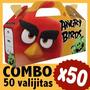Angry Birds Cajita Golosinera Bolsita Souvenir Combo X 50