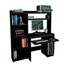 Escritorio Mesa Para Pc Reproex R11813 Alzada Y Biblioteca