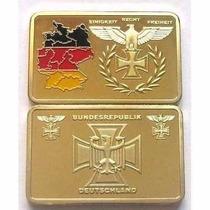 Alemania Onza Lingote Bañado Oro Bundesrepublik Reichsbank