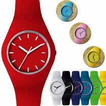 Reloj Pulsera Silicona Unisex Deportivos Por Mayor 10 U.!!!