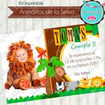 Kit Imprimible Animales De La Selva Deco Candy Bar