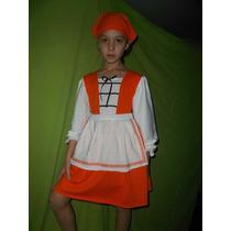 Vestido De Pastora, Simil Heidi , Disfraz Niñas
