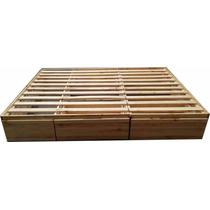 Box Cama De 2 Plazas 1/2 Con 4 Cajones C/guias Metalicas!!!!