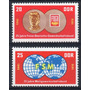 D D R 1970 Mi 1577/78** Yv 1268/ Mint Sindicatos Libres