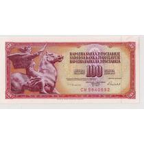 Yugoslavia Billete De 100 Dinara Año 1986 Sin Circular!!!