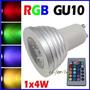 Lampara Led Gu10 4w Rgb C/control Remoto 16 Colores + Efecto