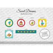 Stickers De Circo Cortados Para Candy Bar O Mesa Dulce