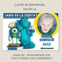 Cartel Cumpleaños Personalizado Monster University
