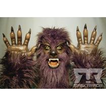 Máscara Látex Wolfman Hombre Lobo + Manos Disfraz Halloween