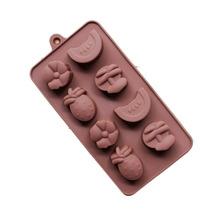 Molde De Silicona Chocolate Sandia Anana Flor Bombones