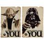 Star Wars Dark Yoda En Tela Canvas De 70x50 Cm