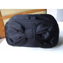Bolso De Raso Color Negro Con Moño -dior - Made In France