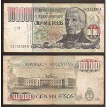 Billete 100000 Pesos Ley Bottero 2502