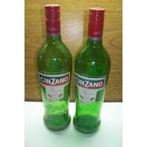 2 Botellas Vacias De 1 Litro Tapa Rosca Gancia O Cinzano