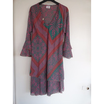 Vestido/remeron/camisola Larga Hippie Chic Importada
