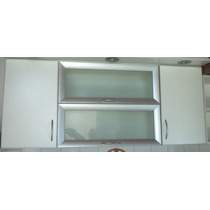 Alacena Puertas Vidrio Mod Horizonte Canto Aluminio-a Pedido
