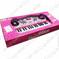 Barbie Teclado Electrónico Piano Real Con Sonidos