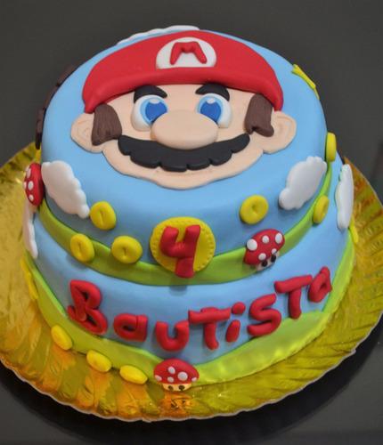 Torta Cumpleaos Decoradas Caseras Mario Bross 300 en Melinterest