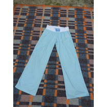 Pantalon Deportivo Color Celeste T 40
