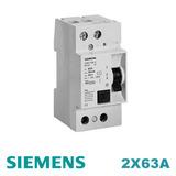 Disyuntor Diferencial Siemens 2x63a 30ma