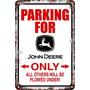 Carteles Antiguos Chapa 60x40 Parking Only John Deere Pa-71