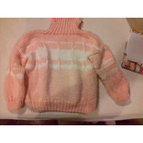 Sweater De Lana Tejido A Mano Artesanal
