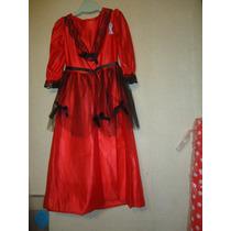 Disfraz Traje De Dama Antigua, Talle 2 Actos Escolares