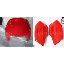 Frente Gilera Smash 110 Rojo Y Juego Cubre Horquillas Rojo