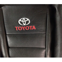 Fundas Cubre Asiento Toyota Hilux Doble Cabina 2016 Negro