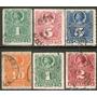 Chile 6 Sellos Usados Sin Dentar Cristobal Colón Años 1878-9