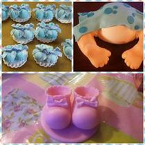 Adornos Para Torta En Porcelana Buho Baby Shower Princesas