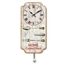 Reloj De Madera Con Perchero