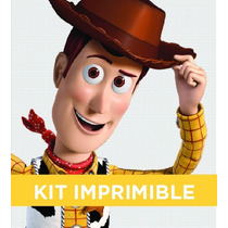 Kit Imprimible Toy Story Woody Cumple Invitación Banderines