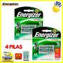 Pila Aa Energizer Recargables 2300mah X4 Pilas