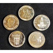 Lote De 5 Monedas Conmemorativas De Argentina. Sin Circular.