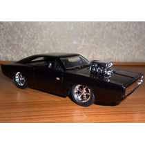 Dom´s 1970 Dodge Charger R/t Rapido Y Furioso Jada 1/32