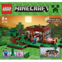 Lego Minecraft The First Night 408 Piezas Art. 21115