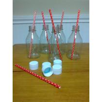 Botellitas Plástico Con Tapa - Candy Bar, Eventos, Souvenir