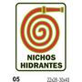 Cartel Fotoluminiscente Nichos Hidrantes- Alto Impacto 22x28
