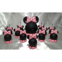 Souvenirs Cabeza De Mickey -minnie En Porcelana Fría