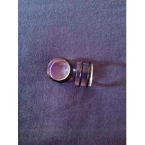 Expansores Acrílico Transparente Double O-ring 18mm